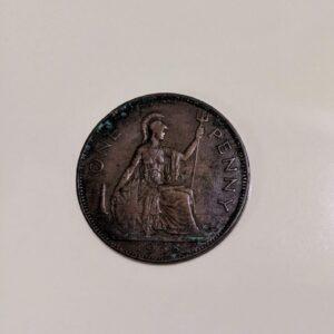 One Penny 1938 Rare Copper Coin