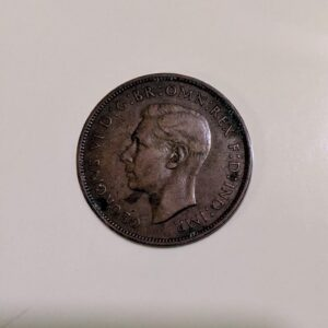 One Penny 1938 Rare Copper Coin