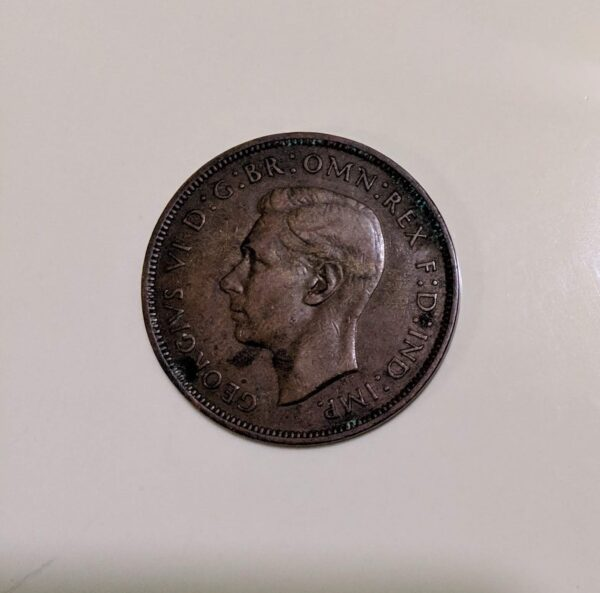 sale value of 1938 one penny coin