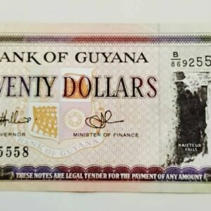 20 Dollars Guyana Banknote