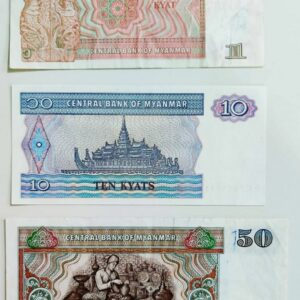 Set of 3 Myanmar note
