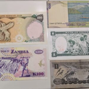 Set of 5 Different banknote
