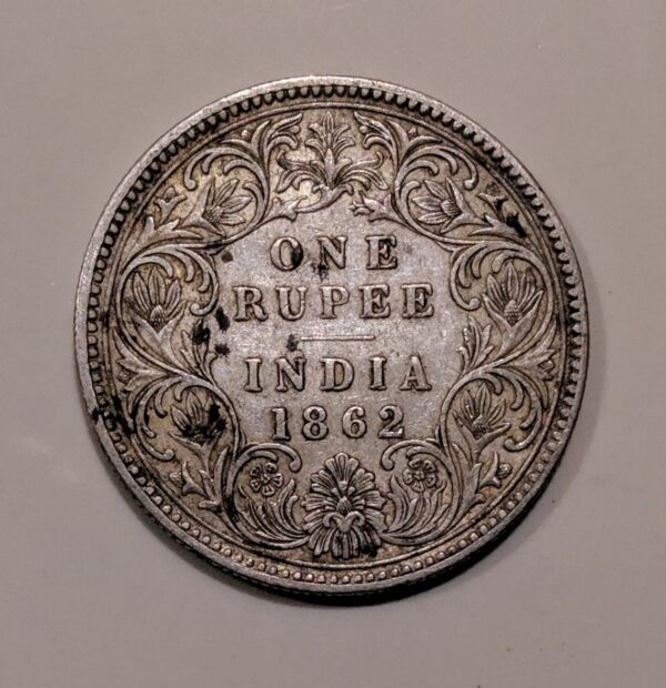one rupee silver coin