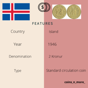 Island coin 2 Kronur