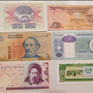 6 different banknote set