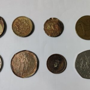 8 Old Collectible Foreign coin set