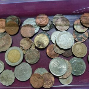 40 foreign coin lot