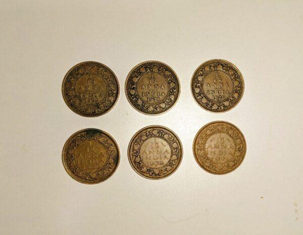 east India coin 1/12 anna