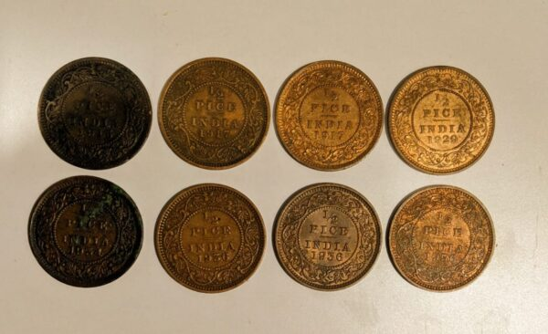 1/2 pice coins