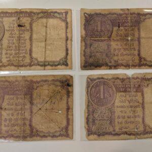 1 Rupees old banknote set