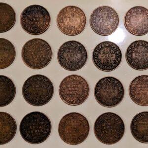 Set of 20 old quarter coins