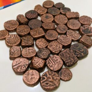10 Ancient Mughal Coin Lot