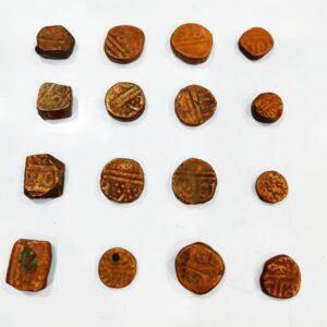 16 Mughal coin lot