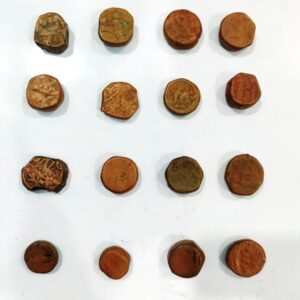 16 weak condition Mughal coins