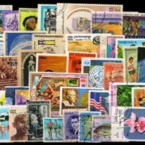 Set of 100 different stamps