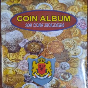 Collectible album of 100 different foreign coins