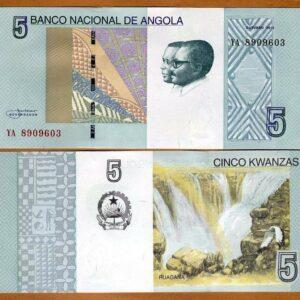 Angola 5 Kwanzas Banknote