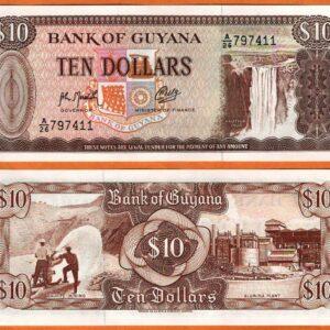 Guyana 10 Dollar Old Issue