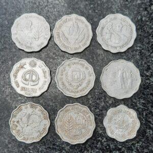 10 Paise 9 different commemorative coin set