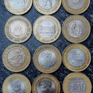 10 Rupees 12 different commemorative coin set