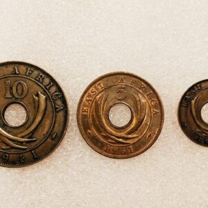 Rare East Africa old coin set
