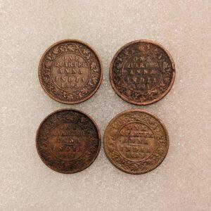 One Quarter Anna Queen Victoria