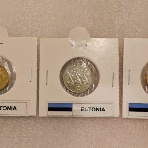 Set of 3 different coins of Estonia