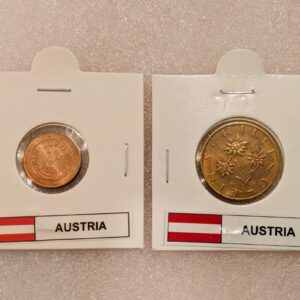 Set of 2 different coins of Austria