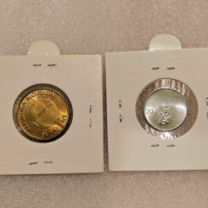 Set of 2 different coins of Slovenia.