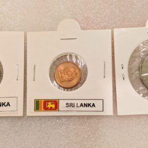 Set of 3 different coins of Srilanka.