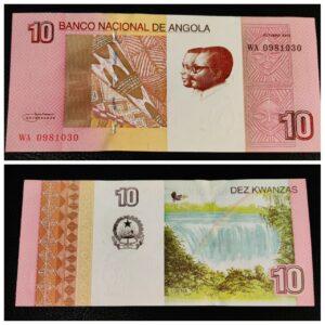 Angola 10 Kwanzas UNC Banknote