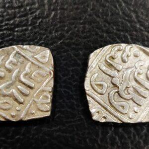 2 Delhi king square silver coins