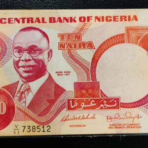 10 Naira Nigeria 2005 Banknote