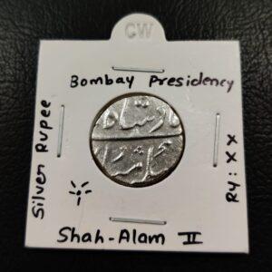 Shah Alam II Surat Mint Bombay Presidency RY XX