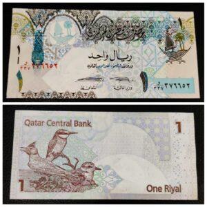 1 Riyal Qatar Currency Banknote UNC Condition