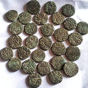 Allauddin Khalji Sultan of Delhi Billon coins