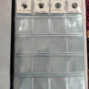 Coin collection holder album 200 coins capacity