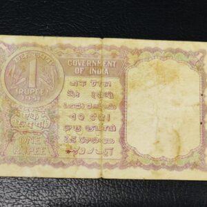 1 RUPEE 1951 KG Ambegaonkar Banknote