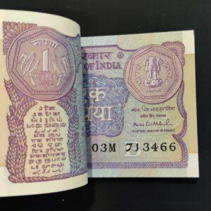 1 Rupees rare Montek Singh Ahluwalia Governor Bundle